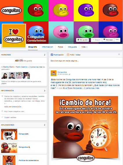 Conguitos Facebook